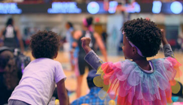 Children at a basketball game