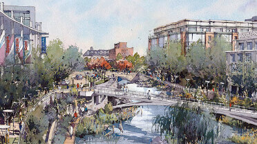 Artist rendering of the campus